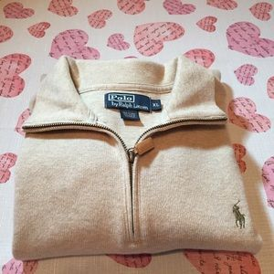 Polo Ralph Lauren Tan Pullover Sweater Size XL